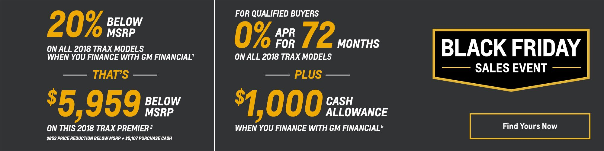 Black Friday Chevy Deals and Offers: 2018 Trax 20% Below MSRP 0% APR