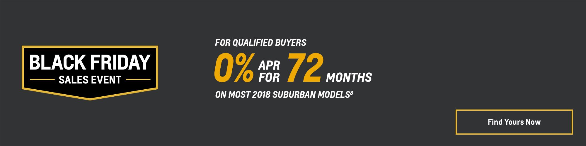 Black Friday Chevy Deals and Offers: 2018 Suburban 0% APR