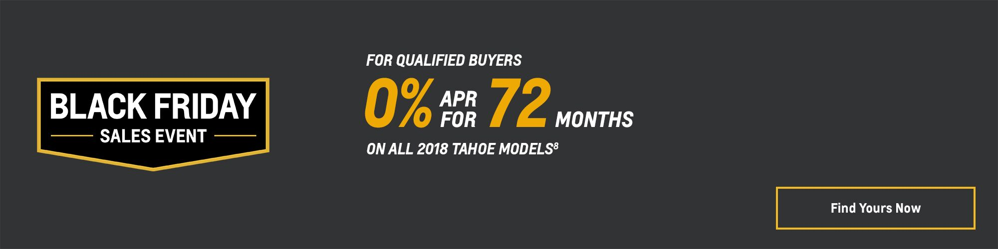 Black Friday Chevy Deals and Offers: 2018 Tahoe 0% APR