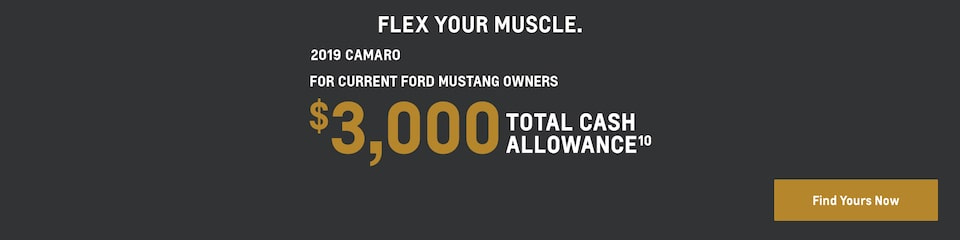 2019 Camaro: $3,000 Total Cash Allowance