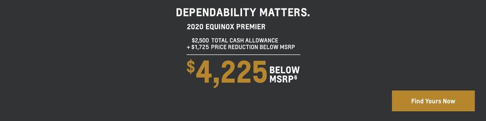 2020 Equinox: $4,225 Below MSRP
