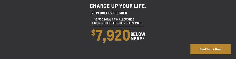 2019 Bolt EV: $7,920 Below MSRP