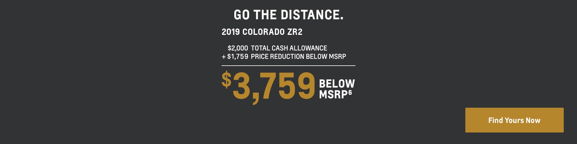 2019 Colorado: $3,759 Below MSRP