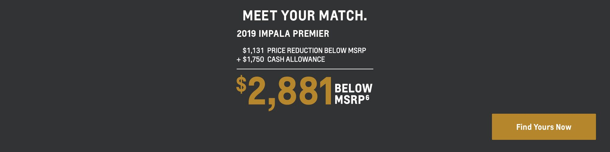 2019 Impala: $2,881 Below MSRP