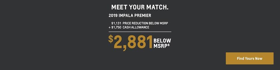 2019 Impala: $2,881 Below MSRP