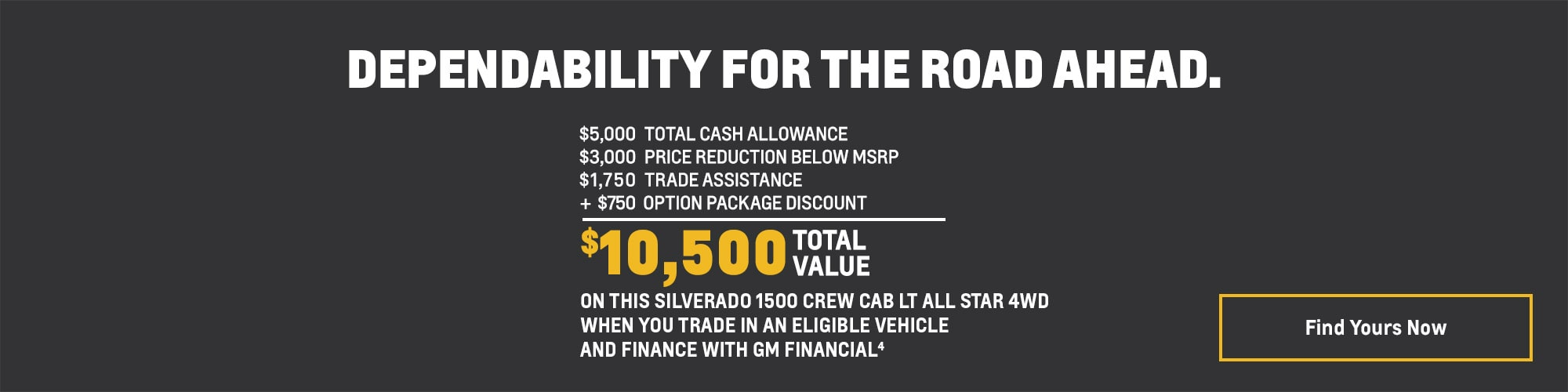 Silverado 1500 Crew Cab LT All Star - $10,500 Total Value