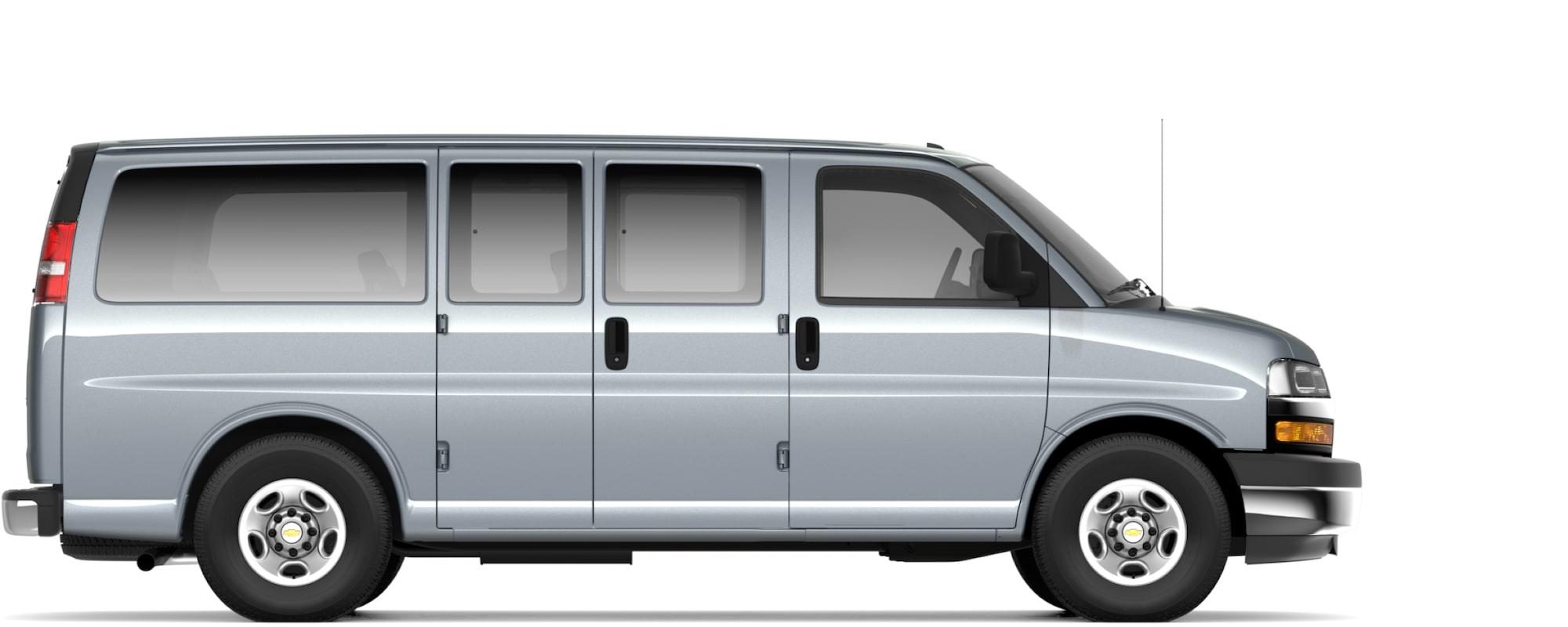 Chevy express 15 passenger van dimensions